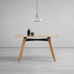 Tisch Piet ca. 135x80 cm - Buchefarben, MODERN, Holz (135/75/80cm) - Modern Living