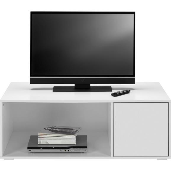 TV-Element in Weiß 'Basic' - Weiß, MODERN, Holz (120/43,5/60cm) - Bessagi Home