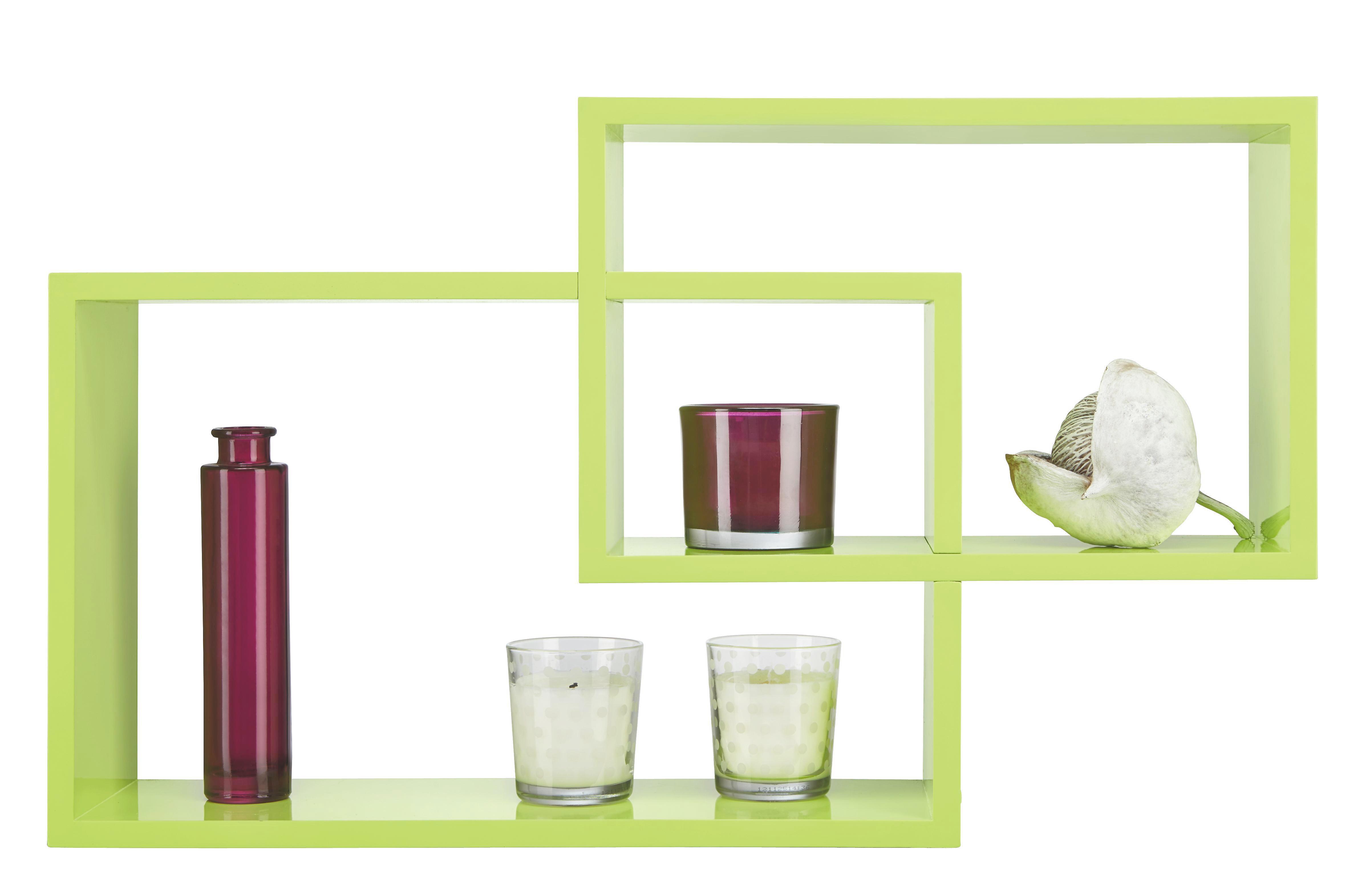 Falipolc Duetto - zöld, műanyag/fém (50/40/31,2/26,2/15cm) - MÖMAX modern living