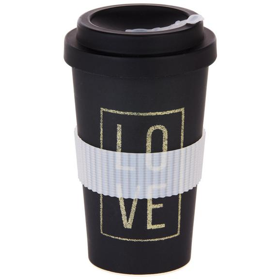 Coffee-to-go-becher Love & Flowers Versch. Motive - Multicolor/Schwarz, MODERN, Holzwerkstoff/Kunststoff (9/16cm) - Mömax modern living