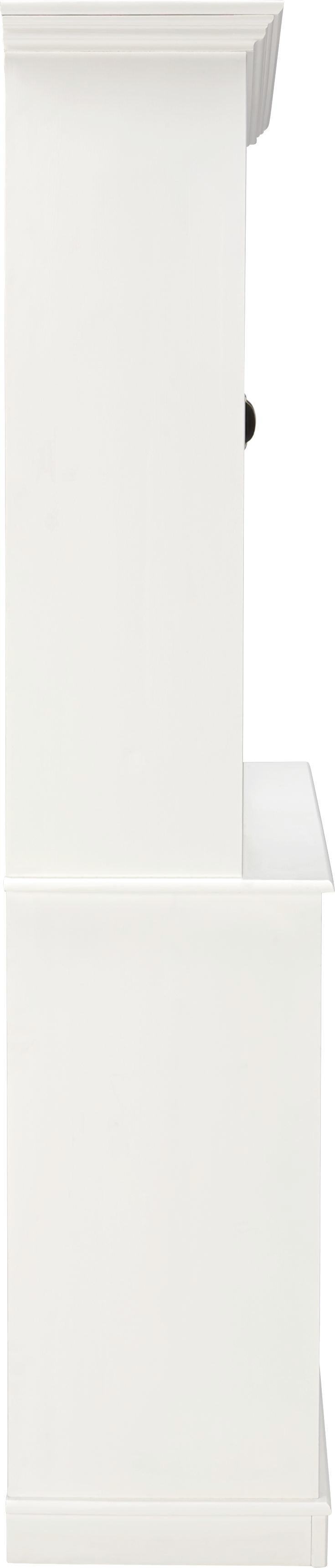Buffet Claudia - Weiß, ROMANTIK / LANDHAUS, Holz/Metall (140/200/44,5cm) - premium living