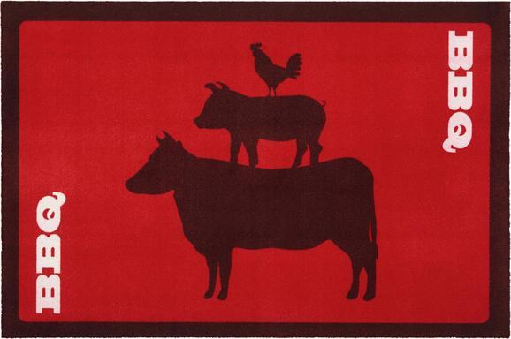 Podloga Za Žar Patio 1 - rdeča/črna, tekstil (80/120cm) - Mömax modern living