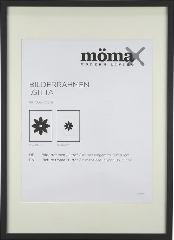 Bilderrahmen Gitta Ca 50x70cm Schwarz - Schwarz, MODERN, Glas/Holz (50/70cm) - Mömax modern living