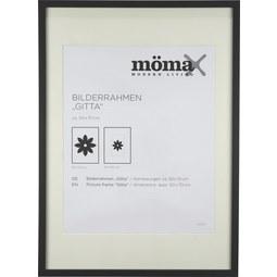 Bilderrahmen Gitta ca 50x70cm Schwarz - Schwarz, MODERN, Glas/Holzwerkstoff (50/70/3,6cm) - Mömax modern living