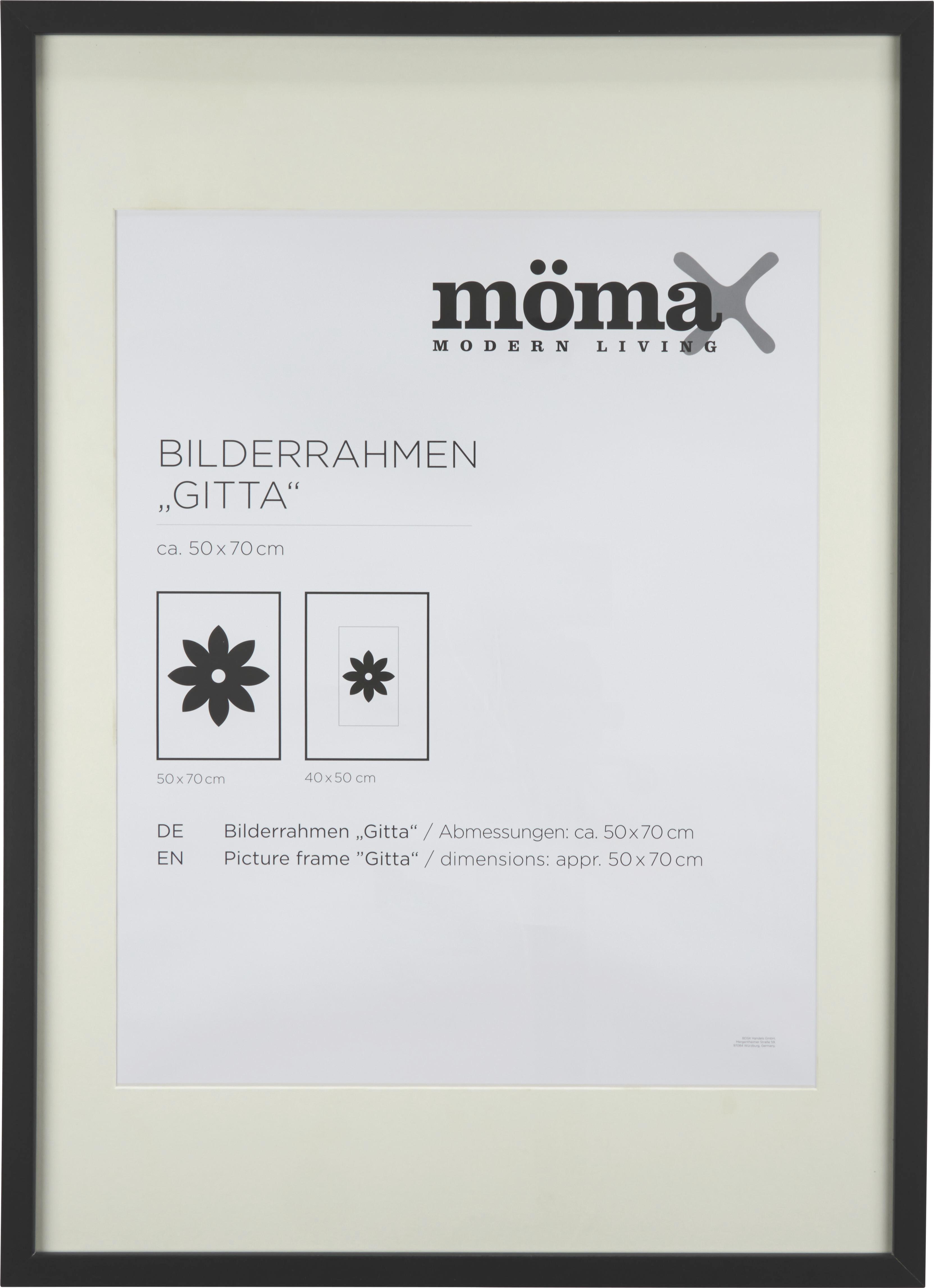 Okvir Za Slike Gitta - črna, Moderno, steklo/les (50/70cm) - MÖMAX modern living