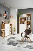 Regal Line4 - hrast/bela, Moderno, leseni material (44/112/36cm) - Mömax modern living
