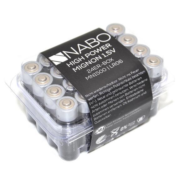 Batterie Nabo 1,5 Volt 24er Box - (10/5/7cm)