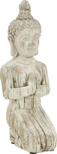 Buddha Knieend aus Stein - Braun, KONVENTIONELL, Stein (19/15/42,5cm) - Mömax modern living
