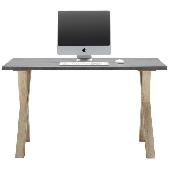 Schreibtisch in Graphitfarben - Eichefarben/Graphitfarben, MODERN, Holzwerkstoff (140/75/70cm) - Mömax modern living
