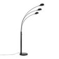 Állólámpa Dorian - Fekete, Lifestyle, Fém (110/210cm) - Premium Living