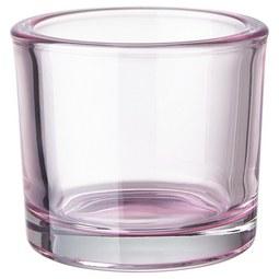 Teelichthalter Silke in verschiedenen Farben - Klar/Rosa, MODERN, Glas (9/8cm) - Mömax modern living