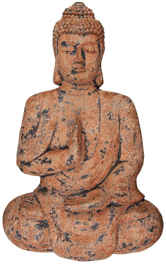 Wanddeko Buddha Schwarz/braun - Schwarz/Braun, Stein (72/11,5/43cm) - Mömax modern living