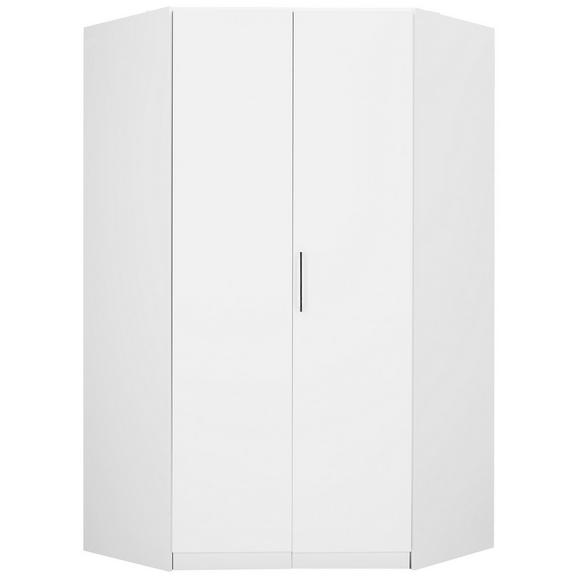Eckschrank in Weiß - KONVENTIONELL, Holzwerkstoff/Kunststoff (119/210/54cm) - Modern Living