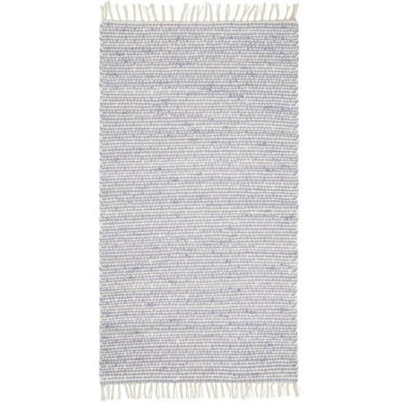 Handwebeteppich Mary in Blau ca. 60x120cm - Blau, ROMANTIK / LANDHAUS, Textil (60/120cm) - Mömax modern living
