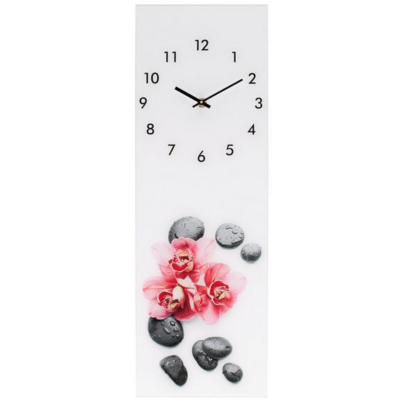 Wanduhr Glasart ca. 20x60cm - Pink/Schwarz, Glas/Kunststoff (20/60cm) - Mömax modern living