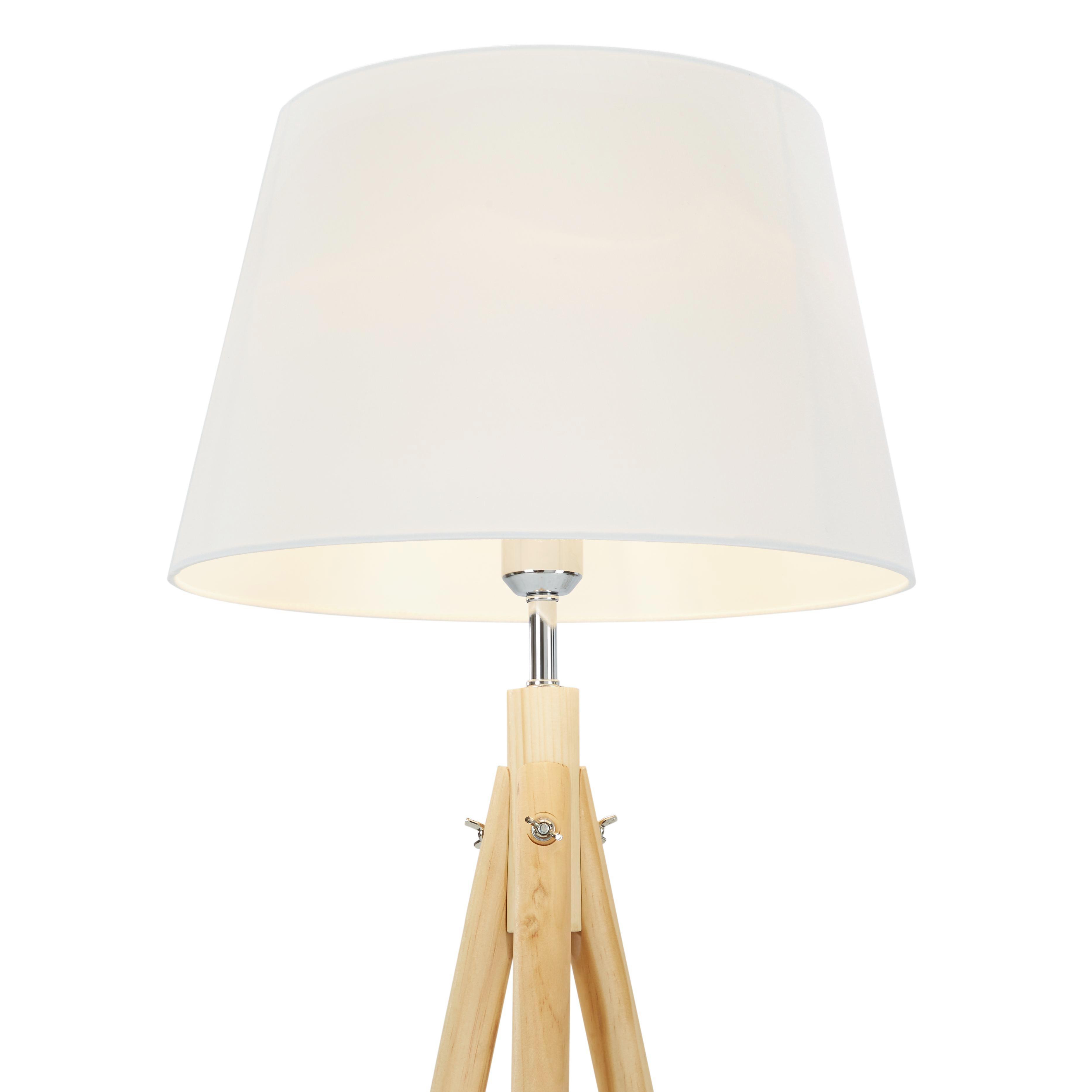 great stehleuchte larissa ii modern holztextil cm with stehlampe wei holz