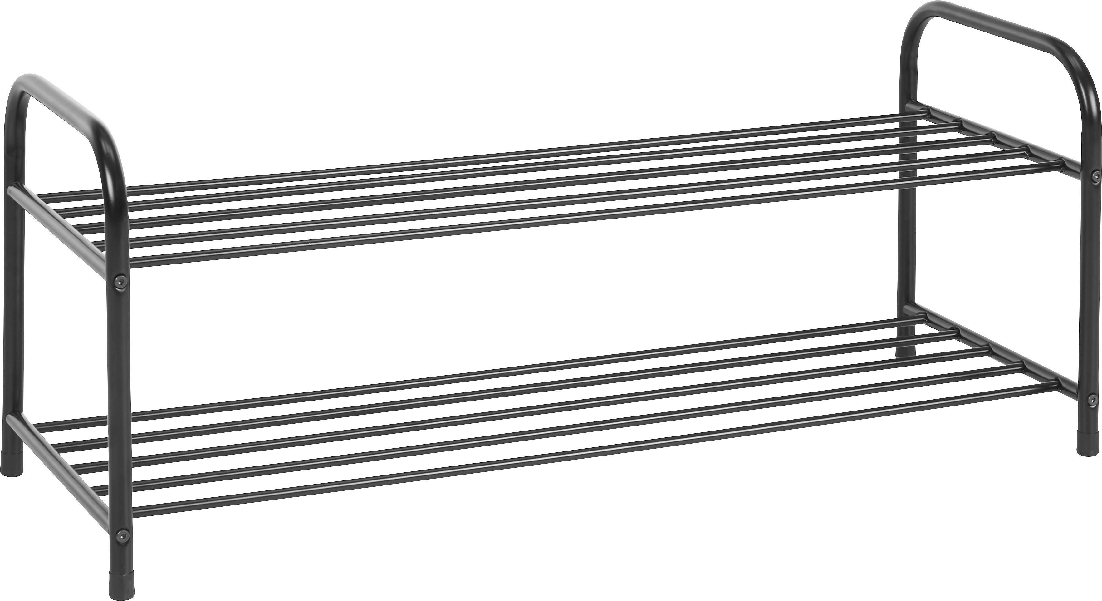 CIPŐTÁROLÓ ROGER - fekete, fém (93/38/35cm) - BASED