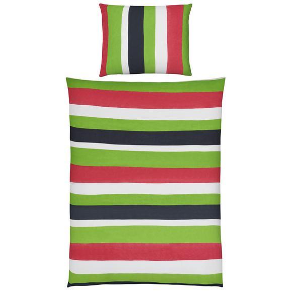 Lenjerie Pat Max - alb/verde, textil (140/200cm) - Modern Living