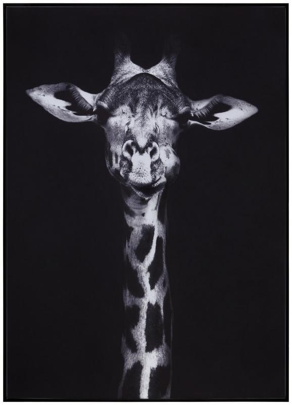 Slika Denise - črna, tekstil/les (102/142/4,3cm) - Modern Living