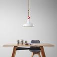 Hängeleuchte max. 60 Watt 'Lennya' - Weiß, MODERN, Kunststoff/Metall (35/120cm) - Bessagi Home