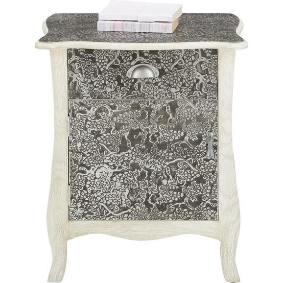 beistelltisch in wei alufarben online kaufen m max. Black Bedroom Furniture Sets. Home Design Ideas