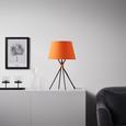 Tischleuchte Tian - Schwarz/Orange, Textil/Metall (35/59/cm) - Mömax modern living