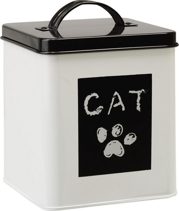 Box mit Deckel Cat in Schwarz/Weiß - Weiß, ROMANTIK / LANDHAUS, Metall (14/14/16cm) - Mömax modern living