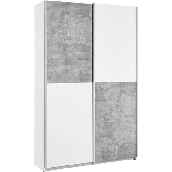Večnamenska Omara Ohio - aluminij/siva, kovina/umetna masa (120/190,5/42cm)