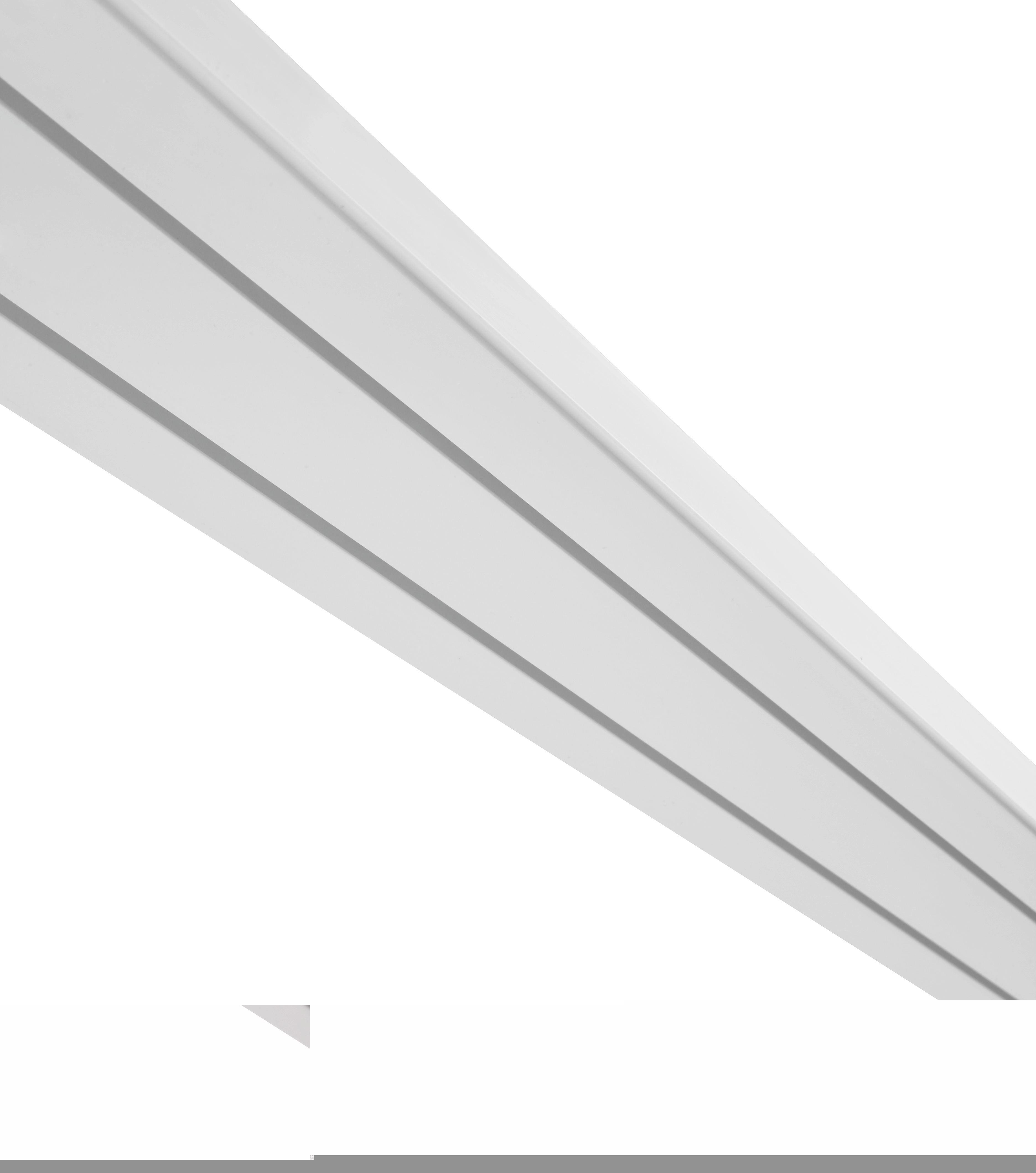 Vorhangschiene Amelia in Weiß, ca. 180cm - Weiß, Kunststoff (180/7.8/1.7cm) - MÖMAX modern living