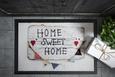 Fußmatte Home Sweet Home 3 40x60cm - Multicolor, MODERN, Textil (40/60cm) - Mömax modern living