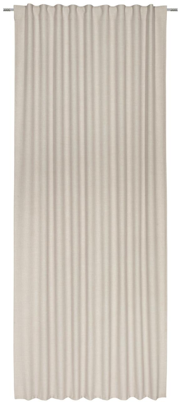 Fertigvorhang Leo In Sand, ca. 140x255cm - Sandfarben, Textil (135/255cm) - PREMIUM LIVING