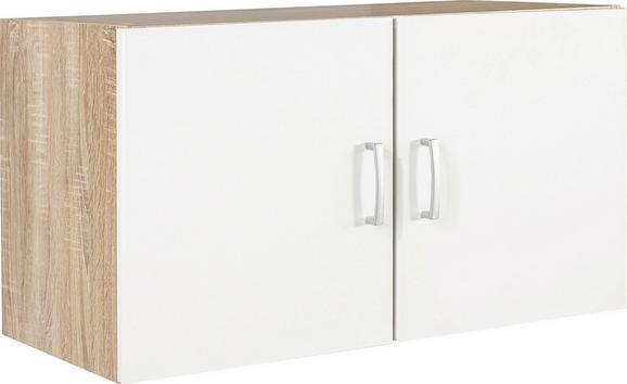 Rátétszekrény Tio - Tölgyfa/Fehér, konvencionális, Faalapú anyag (80/43/37,5cm)