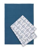 Set Kuhinjskih Krp Agnes - modra/bela, Moderno, tekstil (50/70cm) - Mömax modern living