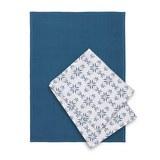 Törlőkendő Szett Agnes - Fehér/Kék, modern, Textil (50/70cm) - Mömax modern living
