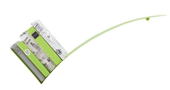 Stenski Regal Okay - zelena, kovina (30/75/18cm) - Mömax modern living