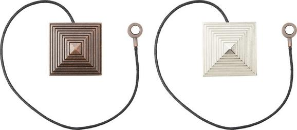 Függönyelkötő Bernie - bronz szín/ezüst színű, modern, fém (6/6cm) - MÖMAX modern living