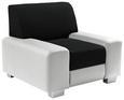 Fotelja Miami - bijela/crna, MODERN, drvo/metal (104/81/90cm)