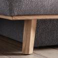 Schlafsofa in Grau mit Bettfunktion - Grau, KONVENTIONELL, Holz/Textil (197/95/105cm) - Zandiara