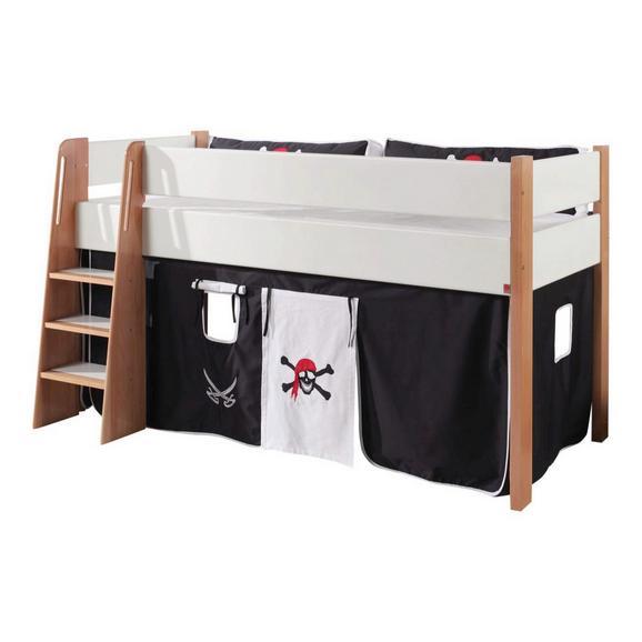 Spielvorhang Stoffset ohne Turm - Schwarz/Weiß, Design, Textil