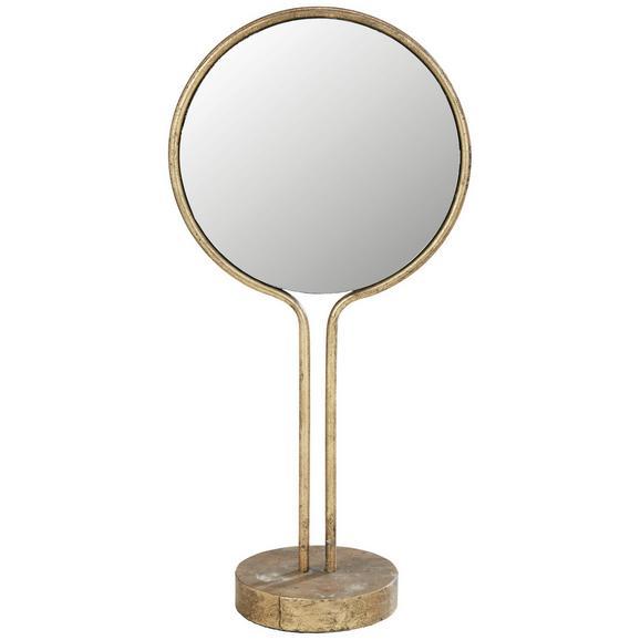 Spiegel Salvatore Goldfarben - ROMANTIK / LANDHAUS, Glas/Metall (21,5/44,5/12cm) - Zandiara