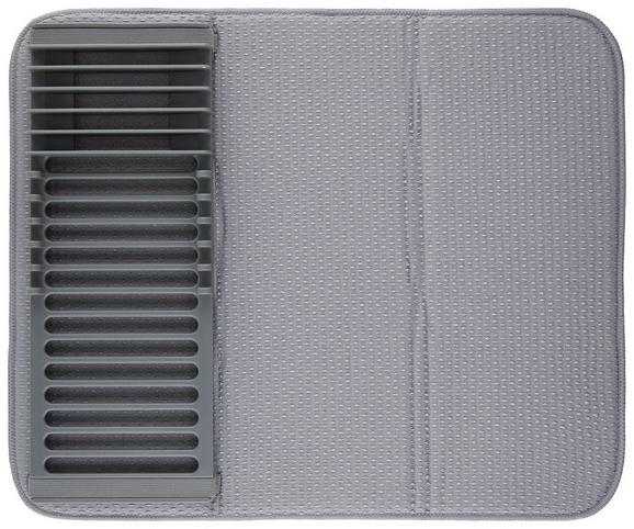 abtropfmatte Ute Grau - Grau, MODERN, Kunststoff (50,8/40,6/5,1cm) - PREMIUM LIVING