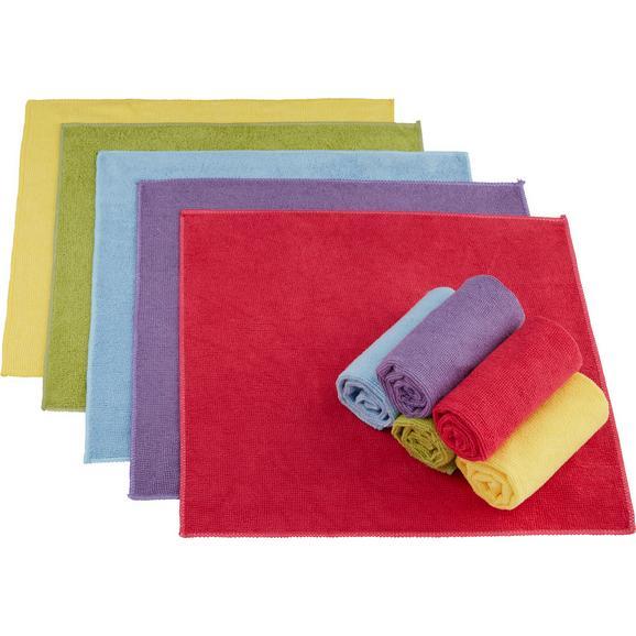 Lavetă Din Microfibră Ricky -Kma- - albastru deschis/roz aprins, textil (35/35cm) - Modern Living
