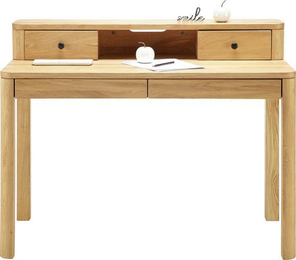 Schreibtisch in Eichefarben - Eichefarben/Schwarz, Holz/Metall (120/92/65cm) - PREMIUM LIVING
