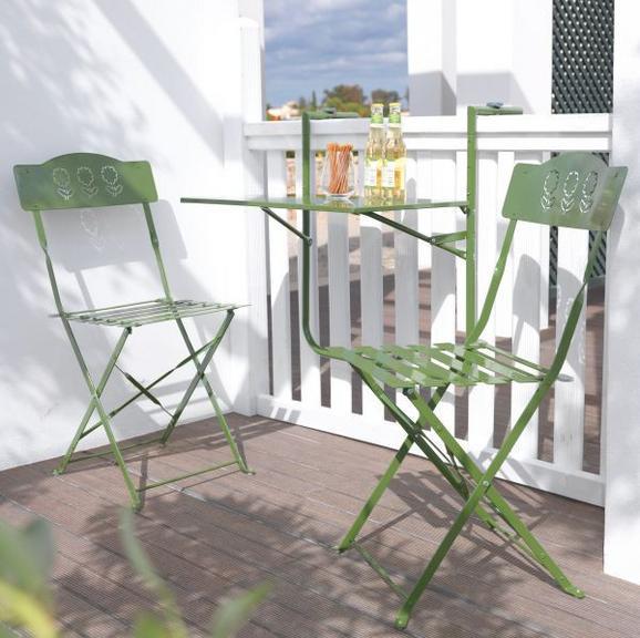 Balkonset Arianna - Grün, MODERN, Metall - MÖMAX modern living
