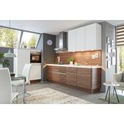 Einbauküche Nolte Artwood Manhattan Uni   Nussbaumfarben/Weiß,  Holzwerkstoff (120/270,