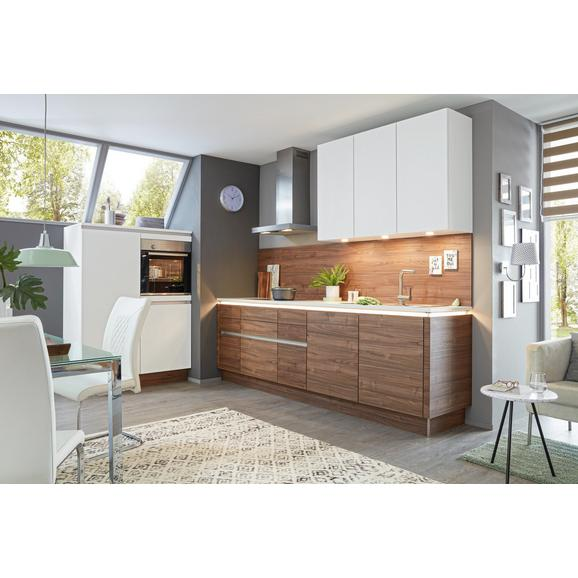 Einbauküche Artwood Manhattan Uni - Nussbaumfarben/Weiß, Holzwerkstoff (120/270,2cm) - Nolte Küchen