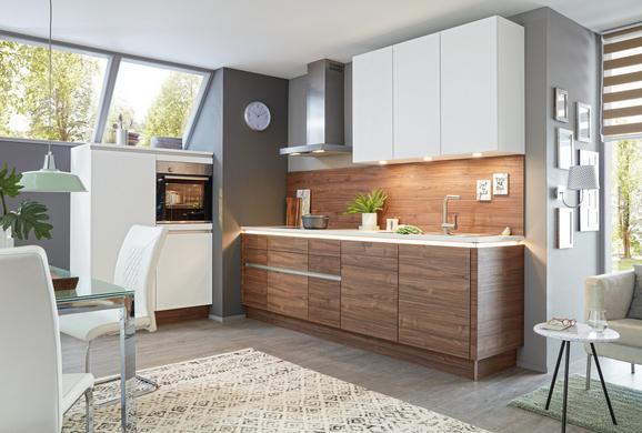 Einbauküche Nolte Artwood Manhattan Uni - Nussbaumfarben/Weiß, Holzwerkstoff (120/270,2cm) - Nolte Küchen