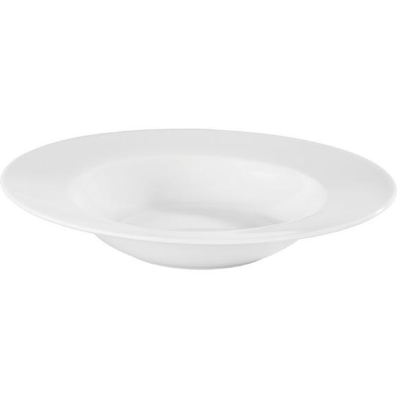 Farfurie Adâncă Adria - alb, Konventionell, ceramică (21,5cm) - Modern Living