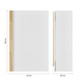 Hängeschrank Weiß/Holz 'Rico' - Naturfarben/Weiß, MODERN, Holz (42/66/20cm) - Bessagi Home