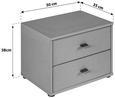 Nočna Omarica 4-you Yuk12 - bela, Konvencionalno, leseni material (50/38.1/35.2cm) - Mömax modern living